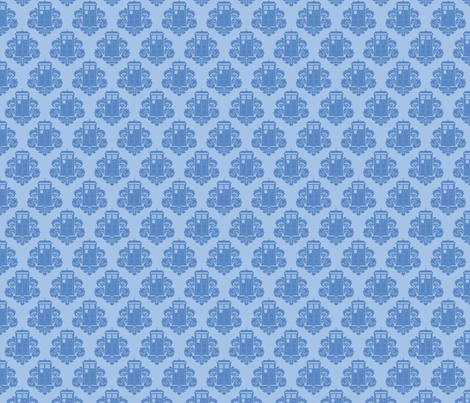 TARDamask fabric by travale on Spoonflower - custom fabric