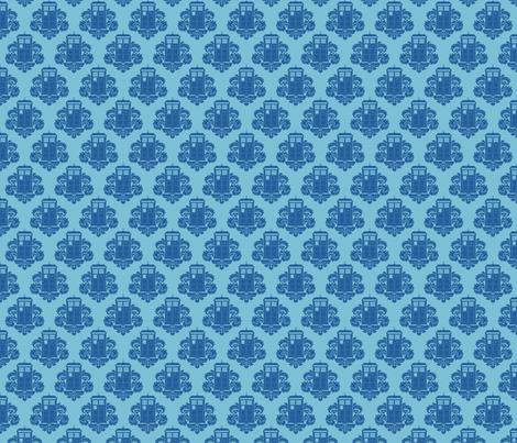 TARDamask dark fabric by travale on Spoonflower - custom fabric