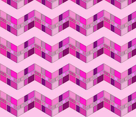 Big Pink Squiggle fabric by b&t_quilts on Spoonflower - custom fabric