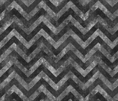 Grungy chevrons dark gray fabric by spacefem on Spoonflower - custom fabric