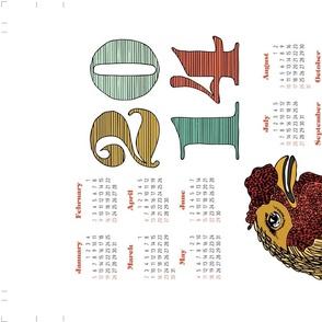 2014 Tea Towel Calendar - Chicken!