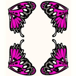 small pink wing appliques