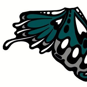 Dark teal wing panel/applique