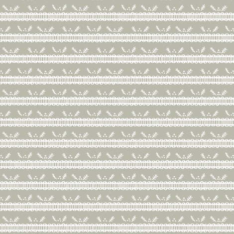 Holiday Pine Lace - White and Gray fabric by joyfulroots on Spoonflower - custom fabric