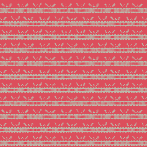 Holiday Pine Lace - Light Red and Gray fabric by joyfulroots on Spoonflower - custom fabric
