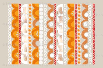 2019 citrus slice tea towel calendar