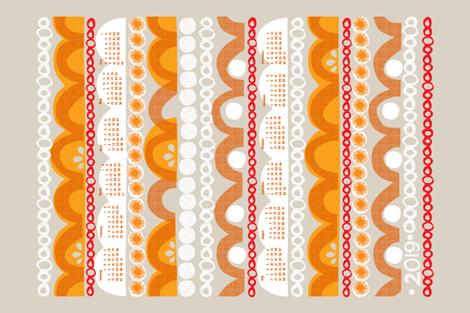 2019 citrus slice tea towel calendar fabric by ottomanbrim on Spoonflower - custom fabric