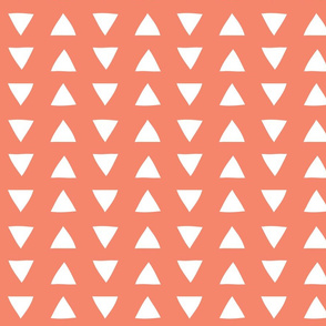 hand drawn triangles coral