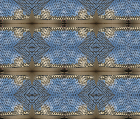 Inside the Louvre  fabric by rcr on Spoonflower - custom fabric