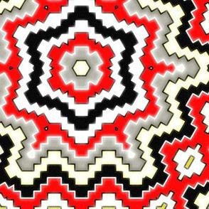 desert geometric red sandstone