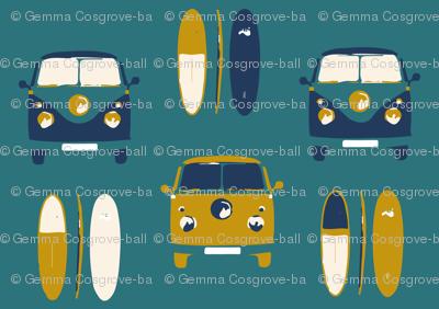 Camper van surf colour 5 - smaller scale