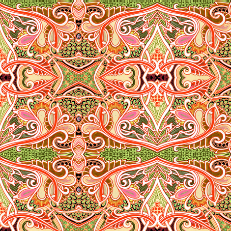 Of Hearts and Wings fabric by edsel2084 on Spoonflower - custom fabric