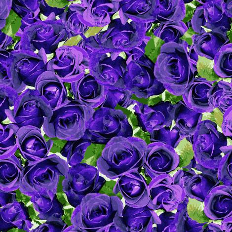 Abundant Roses - Purple fabric by inscribed_here on Spoonflower - custom fabric