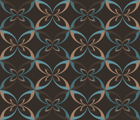 brown ribbon fabric by erijoyjoy on Spoonflower - custom fabric