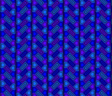 Penta Pattern Blue fabric by will_la_puerta on Spoonflower - custom fabric