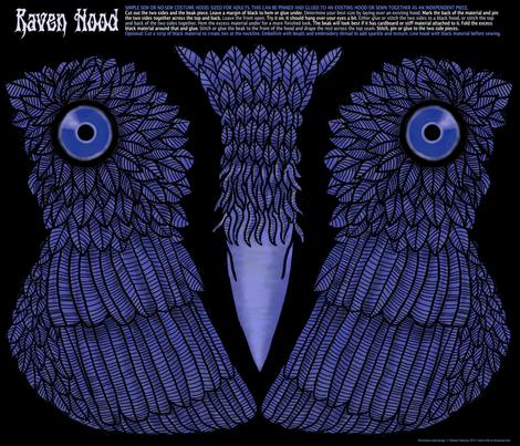 Raven Hood Costume fabric by elramsay on Spoonflower - custom fabric