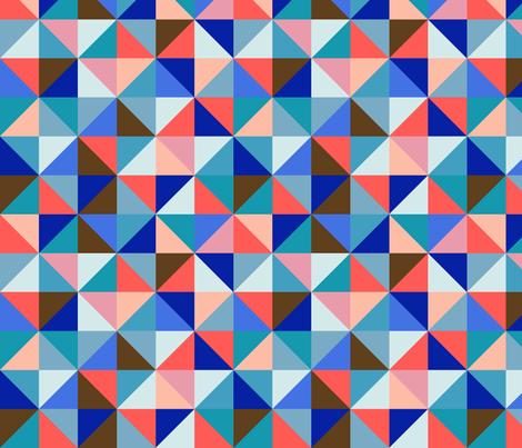 kaleidoskop blue fabric by brokkoletti on Spoonflower - custom fabric