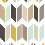 Chevron Slices Mint & Gold