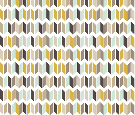 Chevron Slices Mint & Gold fabric by mrshervi on Spoonflower - custom fabric