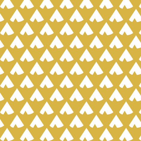 Golden Teepee fabric by mrshervi on Spoonflower - custom fabric