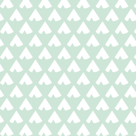 MintTeepee fabric by mrshervi on Spoonflower - custom fabric