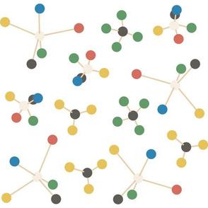 Wooden Molecular Models