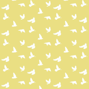 Doves in Flight, Tumbleweed Yellow for Desert Meadow Collection