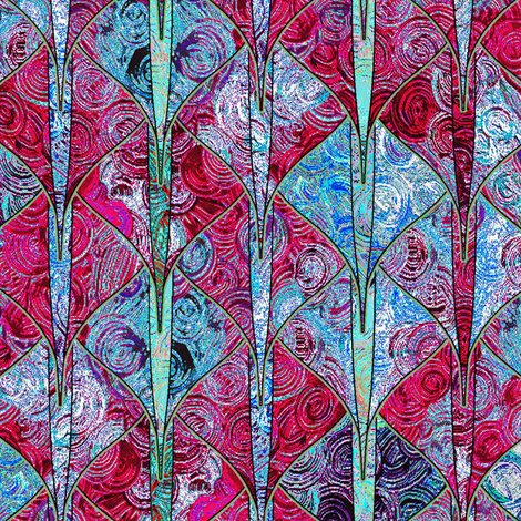 Scrumbled pink + blue dragon scales by Su_G fabric by su_g on Spoonflower - custom fabric