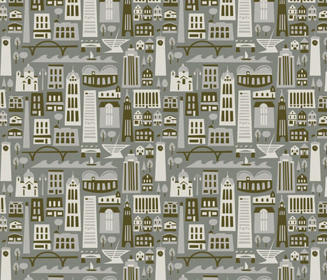 My Fair Milwaukee - Industrial fabric by acbeilke on Spoonflower - custom fabric