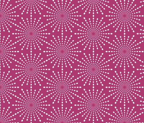 Discodot Star - Fuchsia fabric by siya on Spoonflower - custom fabric