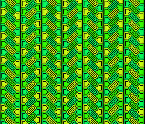 Penta Pattern Green fabric by will_la_puerta on Spoonflower - custom fabric