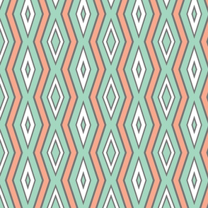 Mint_background_with_white___coral_lines_with_thickness_sample_b