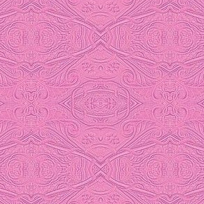 Embossed Pink Paisley in the Sand