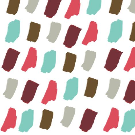 Holiday Paint Brush Colors fabric by joyfulroots on Spoonflower - custom fabric