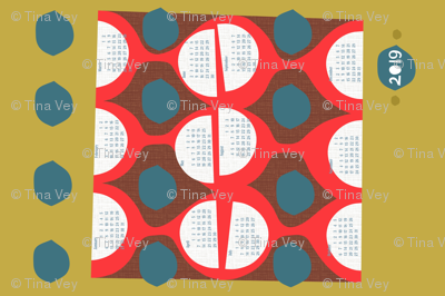 2019 retro tea towel calendar-27 inch