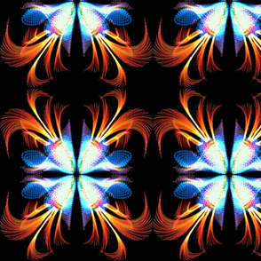 Fire And Ice Fractal Flower