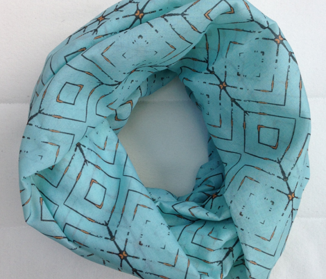 Arrow: Mint and brown pattern