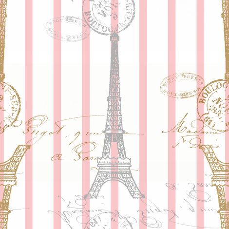 Toujours Paris! ~ D'Or et d'Argent! II fabric by peacoquettedesigns on Spoonflower - custom fabric