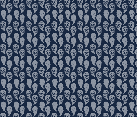 Ghosts ascending fabric by crumpetsandcrabsticks on Spoonflower - custom fabric