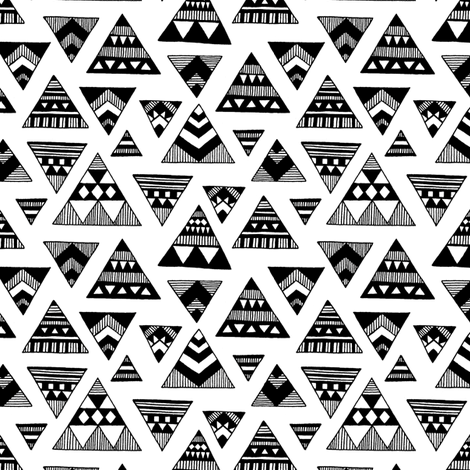 Aztec Triangles fabric by kimsa on Spoonflower - custom fabric
