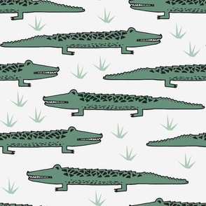 crocodile // crocodiles fabric, alligator print, alligators fabric, andrea lauren fabric, andrea lauren design reptiles nursery baby zoo animals