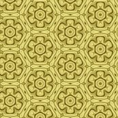 Golden Yellow Flower Pattern