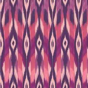 Purple Tribal Ikat