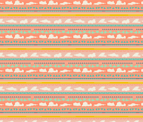 sets and rises pink fabric by makemightswave on Spoonflower - custom fabric