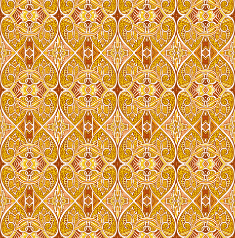 We Fell in Love During the Great War (orange) fabric by edsel2084 on Spoonflower - custom fabric