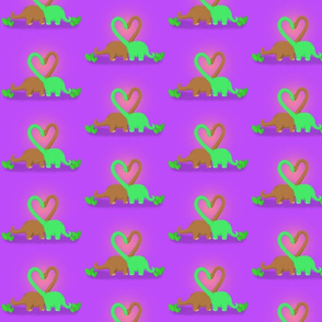 Purple Brachiosaurus Valentine