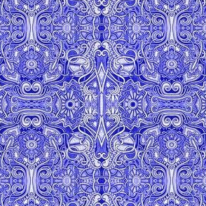 Curly Swirly and Blue