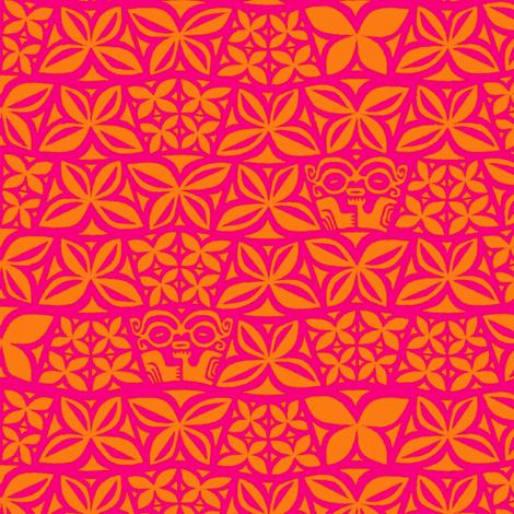 Aloha Flowers 4d fabric by muhlenkott on Spoonflower - custom fabric