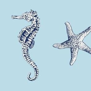 Ocean Life Light Blue