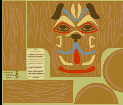 tiki_dog fabric by roxiespeople on Spoonflower - custom fabric
